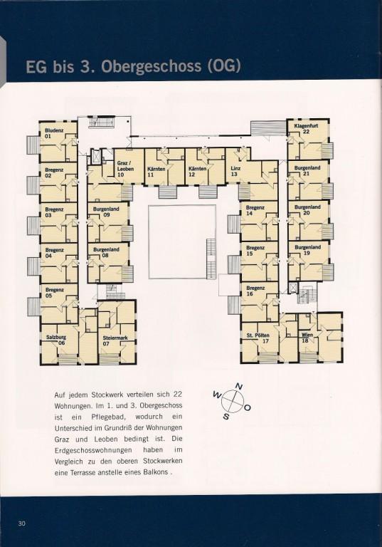 Erste bis dritte Etage